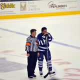 Kerry Fraser with Doug Gilmour Royalty Free Stock Images