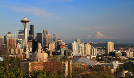 Kerry Park, Seattle, Whashington, USA Lizenzfreies Stockfoto