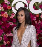 Kerry Washington at the 2018 Tony Awards. Actress Kerry Washington arrives on the red carpet for the 72nd Annual Tony Awards held at Radio City Music Hall in New Stock Images