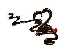 Kers in chocolade royalty-vrije illustratie