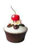 Kers cupcake Stock Foto's