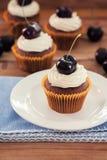 Kers Cupcake Royalty-vrije Stock Foto