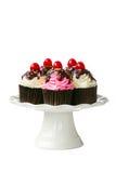 Kers cupcakes Royalty-vrije Stock Foto's