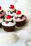 Kers cupcakes Royalty-vrije Stock Afbeeldingen