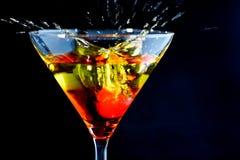 Kers in een Cocktail Royalty-vrije Stock Afbeelding