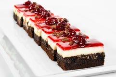 Kers en chocoladecake Stock Foto's
