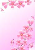 Kers en vlinders royalty-vrije illustratie