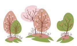 Kersentuin in de lente stock afbeeldingen