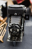 Kershaw Eight-20 Penguin camera. Kershaw Eight-20 Penguin film verticalfoldingcamera Stock Image