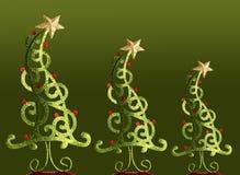 Kerstbomen Royalty-vrije Stock Afbeeldingen