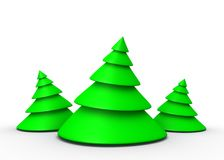 Kerstbomen Royalty-vrije Stock Fotografie