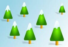 Kerstbomen royalty-vrije illustratie