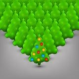 Kerstbomen met speelgoed Royalty-vrije Stock Fotografie