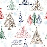 Kerstbomen, naadloos patroon voor uw ontwerp vector illustratie