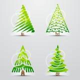 Kerstbomen. Reeks vectortekens (pictogrammen) Royalty-vrije Stock Foto's
