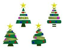 Kerstbomen (Samenvatting) Stock Foto's