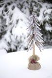 Kerstbomen in sneeuw Royalty-vrije Stock Fotografie