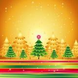 Kerstbomen, vector   Stock Afbeeldingen