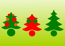 Kerstbomenvector Royalty-vrije Stock Foto's
