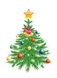 Kerstboom. Royalty-vrije Stock Fotografie