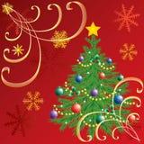 Kerstboom. Stock Foto