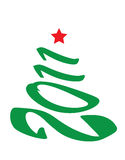 Kerstboom 2011 royalty-vrije illustratie