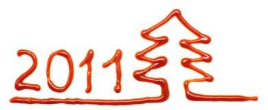 Kerstboom 2011 Royalty-vrije Stock Foto