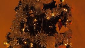 Kerstboom stock footage
