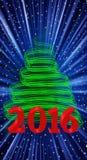 Kerstboom 2016 Royalty-vrije Stock Afbeelding