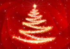 Kerstboom Abstracte Achtergrond stock illustratie