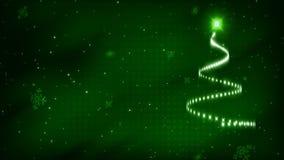 Kerstboom Anim 2 - LIJN royalty-vrije illustratie