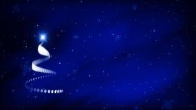 Kerstboom Anim 3 - LIJN stock illustratie
