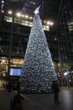 Kerstboom Berlin Main Train Station Stock Fotografie