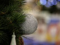 Kerstboom in binnenland royalty-vrije stock foto
