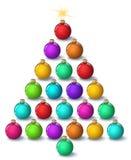 Kerstboom, christams bal, op een witte achtergrond Stock Afbeelding