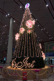 Kerstboom in de Hoofd Internationale Luchthaven van Peking Royalty-vrije Stock Afbeelding
