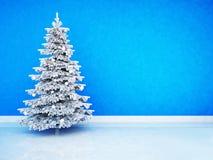 Kerstboom in de ruimte royalty-vrije illustratie