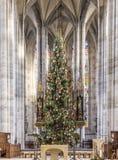 Kerstboom in de St George Munster Royalty-vrije Stock Afbeeldingen