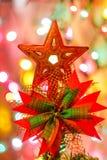 Kerstboom & Defocused-Lichten Royalty-vrije Stock Foto