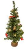 Kerstboom die op witte achtergrond wordt geïsoleerdn Stock Afbeelding