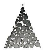 Kerstboom die van abstracte elementen wordt gemaakt Royalty-vrije Stock Afbeelding