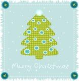 Kerstboom die van doek wordt gemaakt Royalty-vrije Stock Fotografie