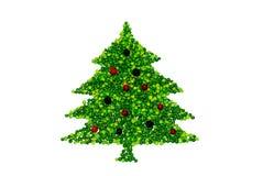 Kerstboom die van erwten wordt gemaakt Royalty-vrije Stock Foto's