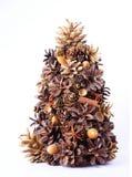 Kerstboom die van natuurlijke elementen wordt gemaakt Stock Afbeelding