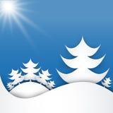 Kerstboom van stukken van Witboek wordt gemaakt dat Royalty-vrije Stock Foto