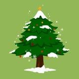 Kerstboom eenvoudige boom Stock Afbeeldingen