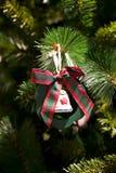 Kerstboom en decoratie Stock Foto