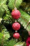 Kerstboom en decoratie Royalty-vrije Stock Fotografie