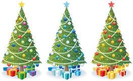 Kerstboom en Giften Stock Fotografie