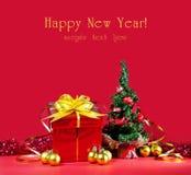 Kerstboom en heden Stock Foto's